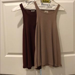 2 FreePeople flowy sleeveless tops